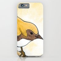 iPhone & iPod Case featuring Yellow Blue Warbler by Yvonne Valenza