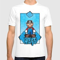 Mario Heisenberg Mens Fitted Tee White SMALL
