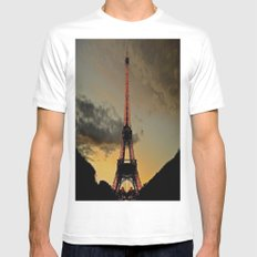 Tower Sunset Mens Fitted Tee SMALL White