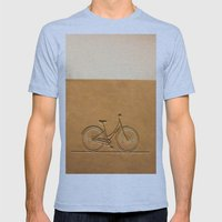 I Like To Ride My Bicycl… Mens Fitted Tee Athletic Blue SMALL