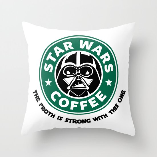 Star Wars Coffee Throw Pillow