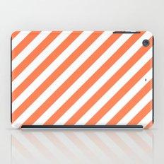 Diagonal Stripes (Coral/White) iPad Case