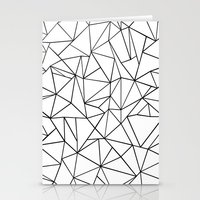 Abstract Outline Black O… Stationery Cards