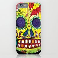 iPhone & iPod Case featuring Spoiled Sugar Skull by mendydraws