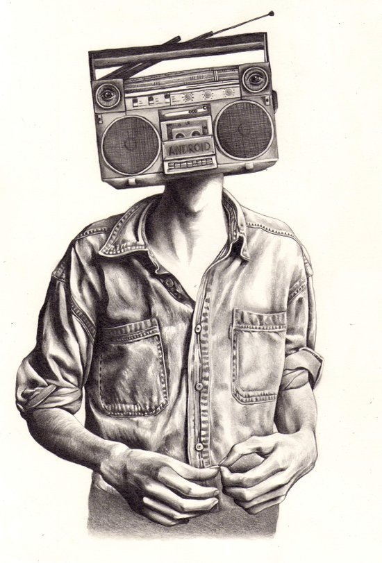 Radio-Head Art Print