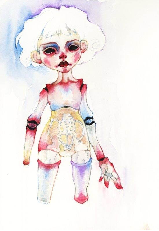 Ball-joined doll Art Print