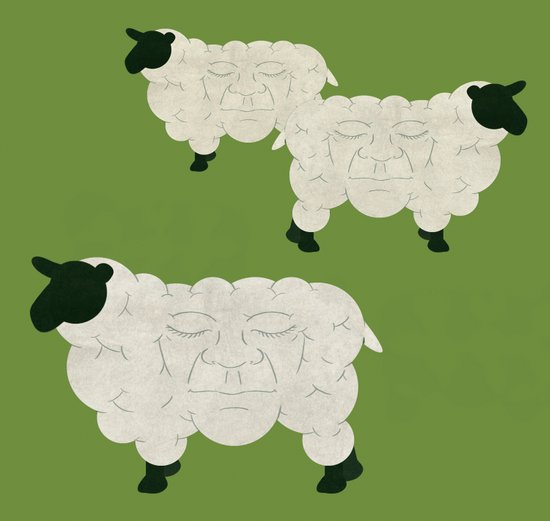Face Cloning Art Print