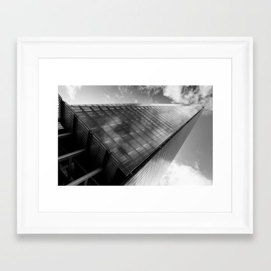 The Leaning Shard Of London  Framed Art Print