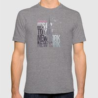 It's up to you [New York] Mens Fitted Tee Tri-Grey SMALL