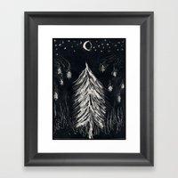 Midnight In A  Burning F… Framed Art Print