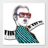 Vintage Elton - Analog Z… Canvas Print