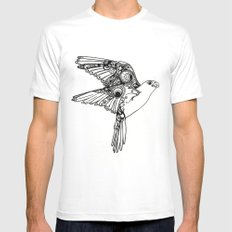 Fly. SMALL White Mens Fitted Tee