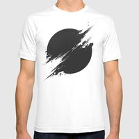 The Sun Is Black Mens Fitted Tee White SMALL