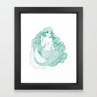 Flowers And Scales Framed Art Print