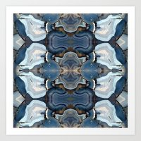 Agate the Blues Art Print