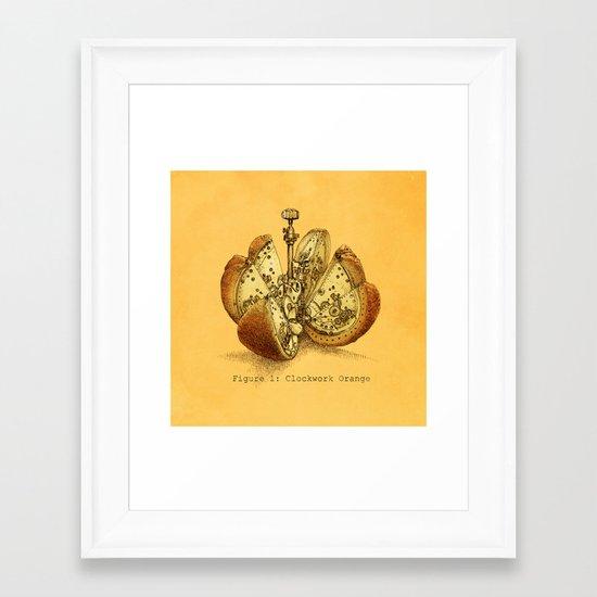 Clockwork Orange  (color option) Framed Art Print