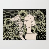 Cafe Drawing Canvas Print