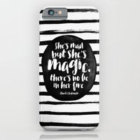 iPhone Cases featuring She's mad but she's magic by Elisabeth Fredriksson