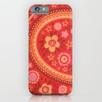iPhone & iPod Case featuring Bright Red Flowers by Emma Randall