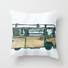 The Bus Throw Pillow