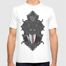 American Psycho Kitty SMALL White Mens Fitted Tee