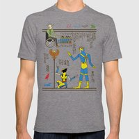 Hero-glyphics: X Mens Fitted Tee Tri-Grey SMALL