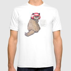 Cat Style White SMALL Mens Fitted Tee