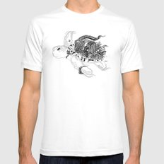 Inking Turtle SMALL White Mens Fitted Tee