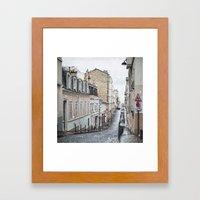 Montmartre, Paris. Framed Art Print
