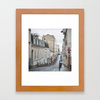 Montmartre, Paris. Framed Art Print