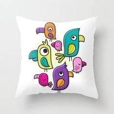 Le Tweet Throw Pillow