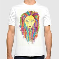 Dandy Lion Mens Fitted Tee White SMALL