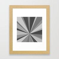 Monochrome Starburst Framed Art Print