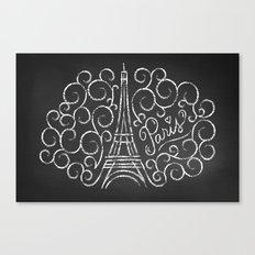 Paris Sketch Canvas Print