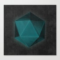 Spatial Geometry Canvas Print