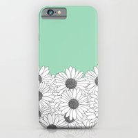 Daisy Boarder Mint iPhone 6 Slim Case
