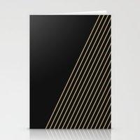 Tan & Black Stripes  Stationery Cards