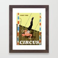 Visit The Circus Vintage… Framed Art Print