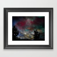 Here And There Framed Art Print