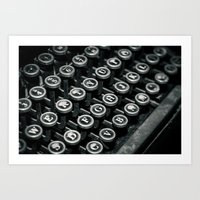 Black And White Typewrit… Art Print
