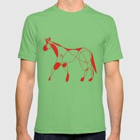 Heart Pop Unicorn Mens Fitted Tee Grass SMALL