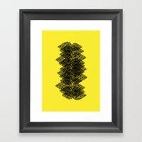 Feathered Spine Framed Art Print