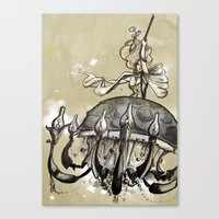 Hester, the chande-lady Canvas Print