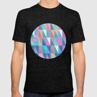 Candy Triangles Mens Fitted Tee Tri-Black SMALL