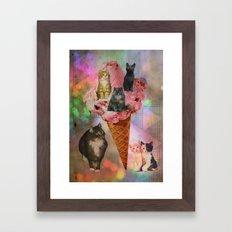 The cat's that got the cream! Framed Art Print