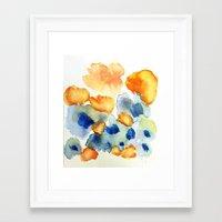 Flower Inkling Framed Art Print