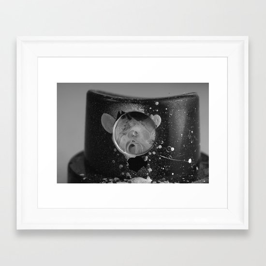 Spray Cap Space Framed Art Print