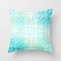 Linear Oceanblast Throw Pillow