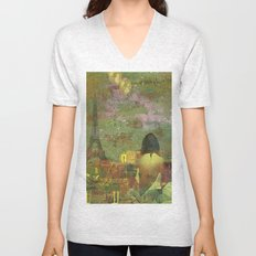 On the roofs of Paris Unisex V-Neck