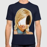 Disaster In Her Face · … Mens Fitted Tee Navy SMALL